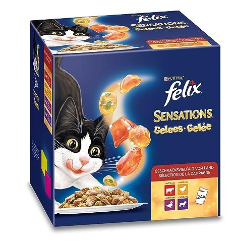 Purina Felix Sensations mermeladas, 24 Paquetes, ...