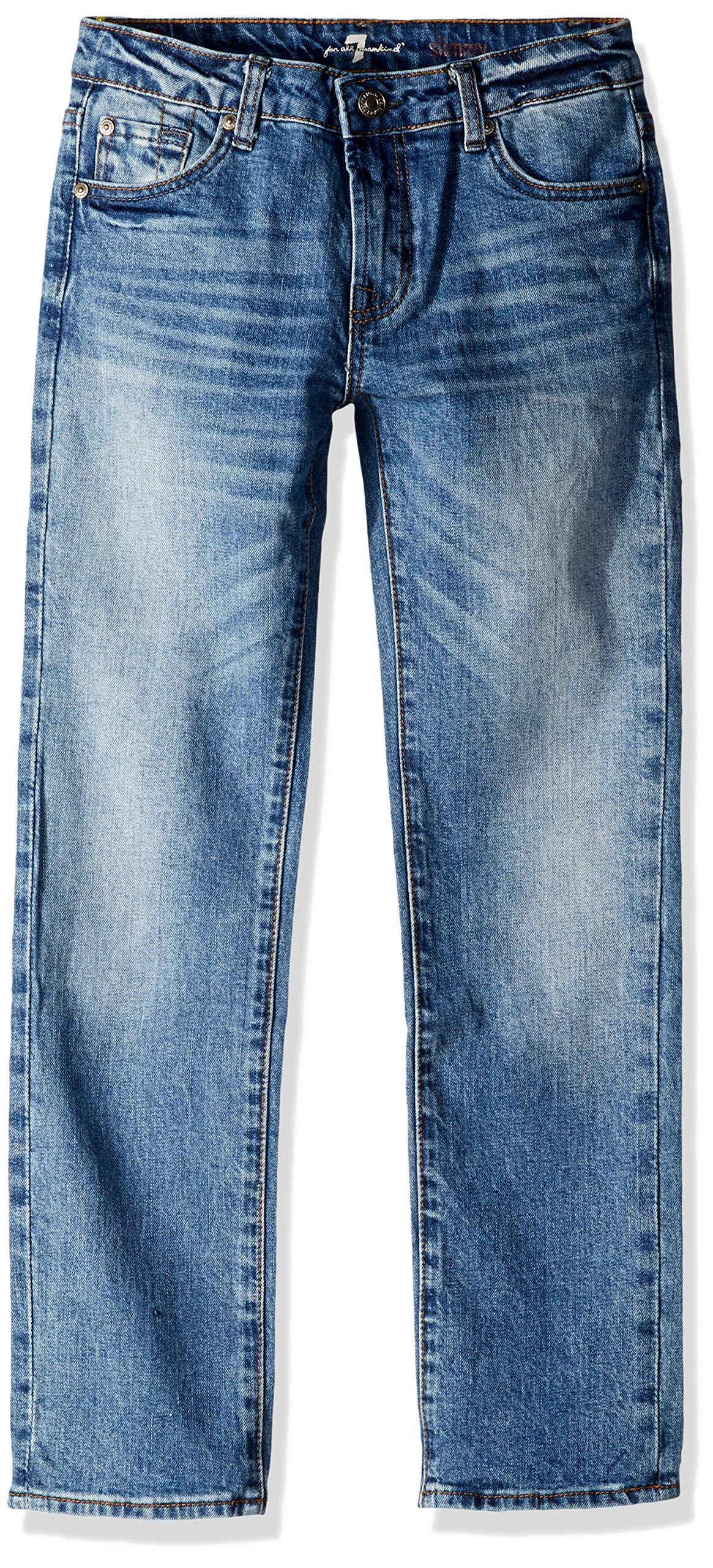 7 For All Mankind Kids Boys' Big Slimmy Jean, Backhand, 10