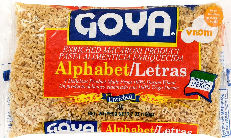 Goya Foods Alphabet (Letras) Pasta, 7-Ounce (Pack of 20)