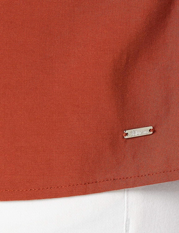 TOM TAILOR denim dam bakdelsblus 13053 - Rust Orange