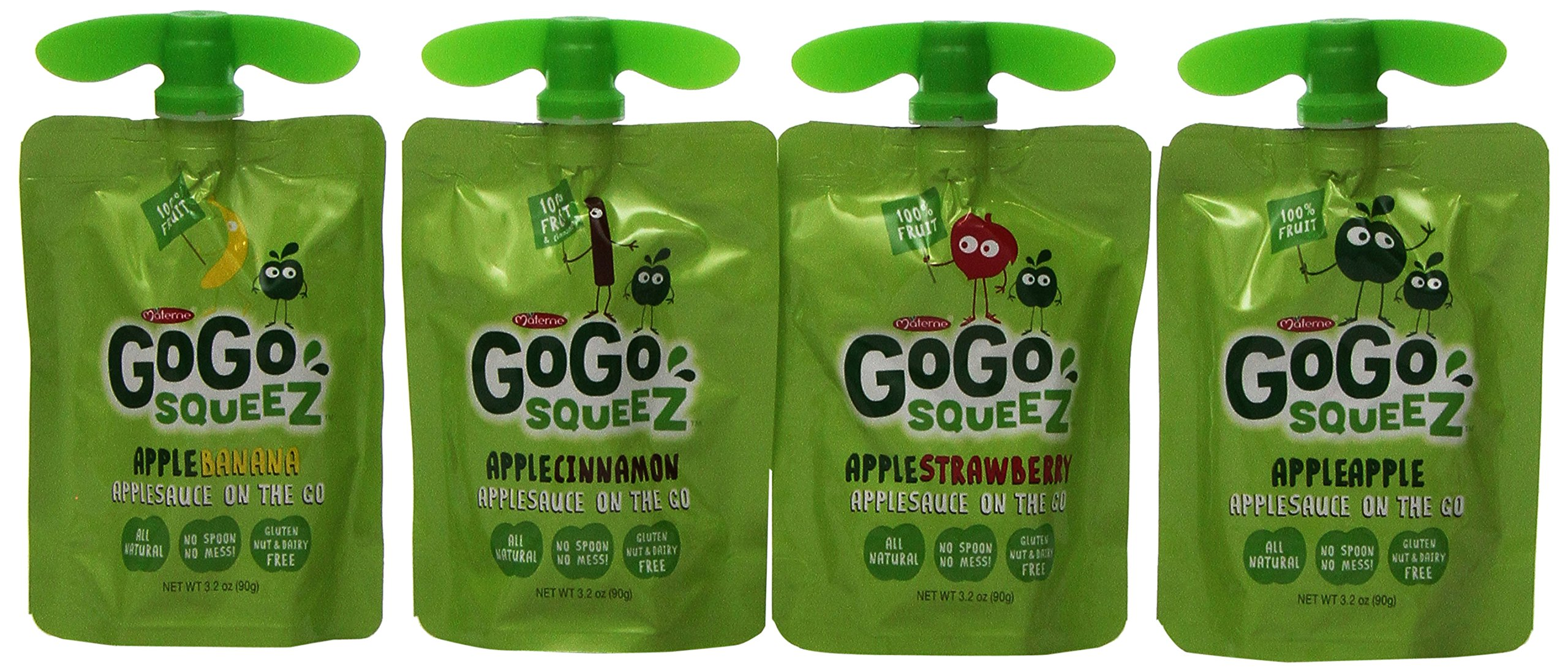 GoGo Squeez Apple Sauce on The Go Pouches, 3.2 Ounce