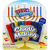 Hanukkah Candle Making Kit - Includes 9 Beeswax Honeycomb Sheets, 9 Cotton Wicks, Instructions - Chanukah Arts and…