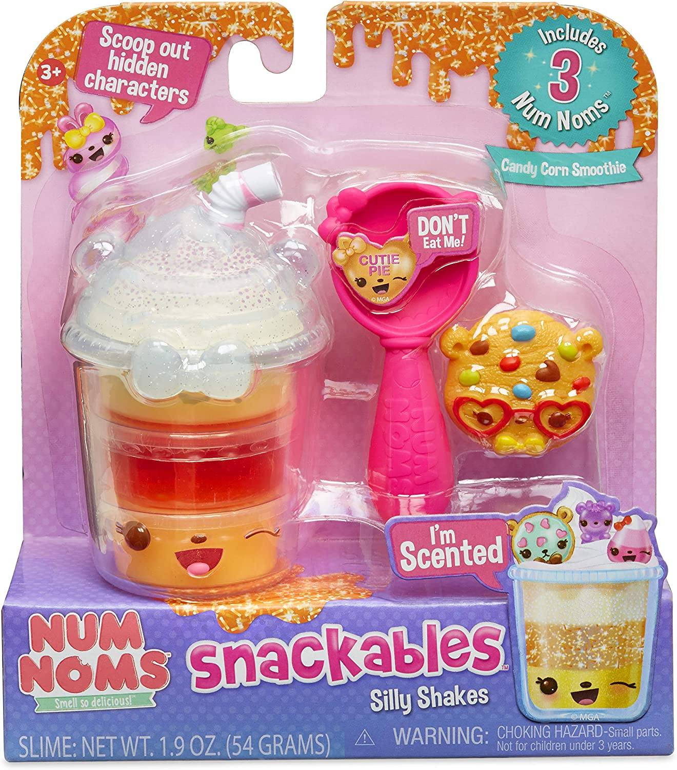Num Noms Snackables Silly Shakes- Candy Corn Smoothie, Multicolor
