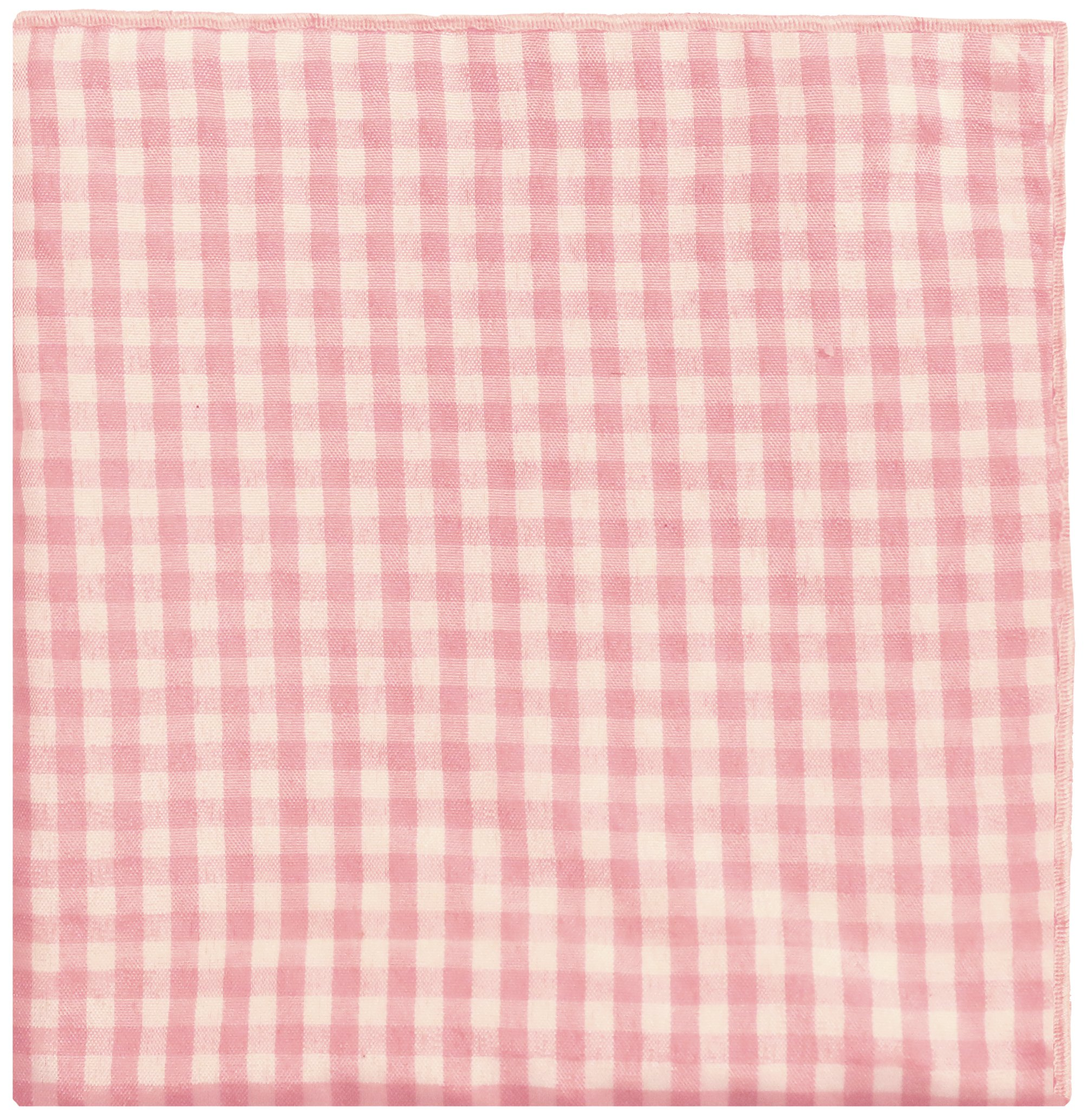 Light Pink & White Check w/ White Button Men's Pocket Square by The Detailed Male by The Detailed Male (Image #2)