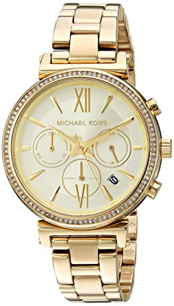 Amazon.com: Michael Kors Womens Sofie Quartz Stainless-Steel Strap, Silver, 16 Casual Watch (Model: MK6575: Michael Kors: Watches