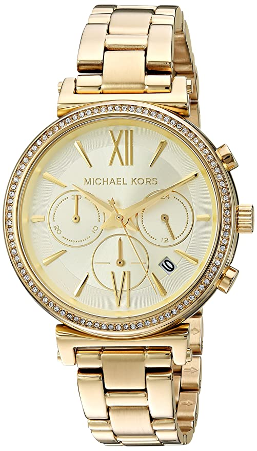 Amazon.com: Michael Kors Womens Sofie Quartz Stainless-Steel Strap, Silver, 14 Casual Watch (Model: MK3880: Michael Kors: Watches