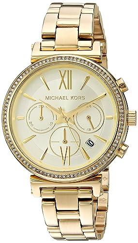 Michael Kors Reloj Analogico para Mujer de Cuarzo con Correa en Acero Inoxidable MK6559: Amazon.es: Relojes
