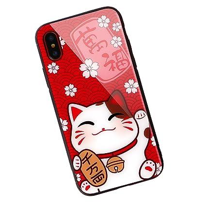 Amazon.com: aichose iPhone funda, gato de la fortuna de lujo ...