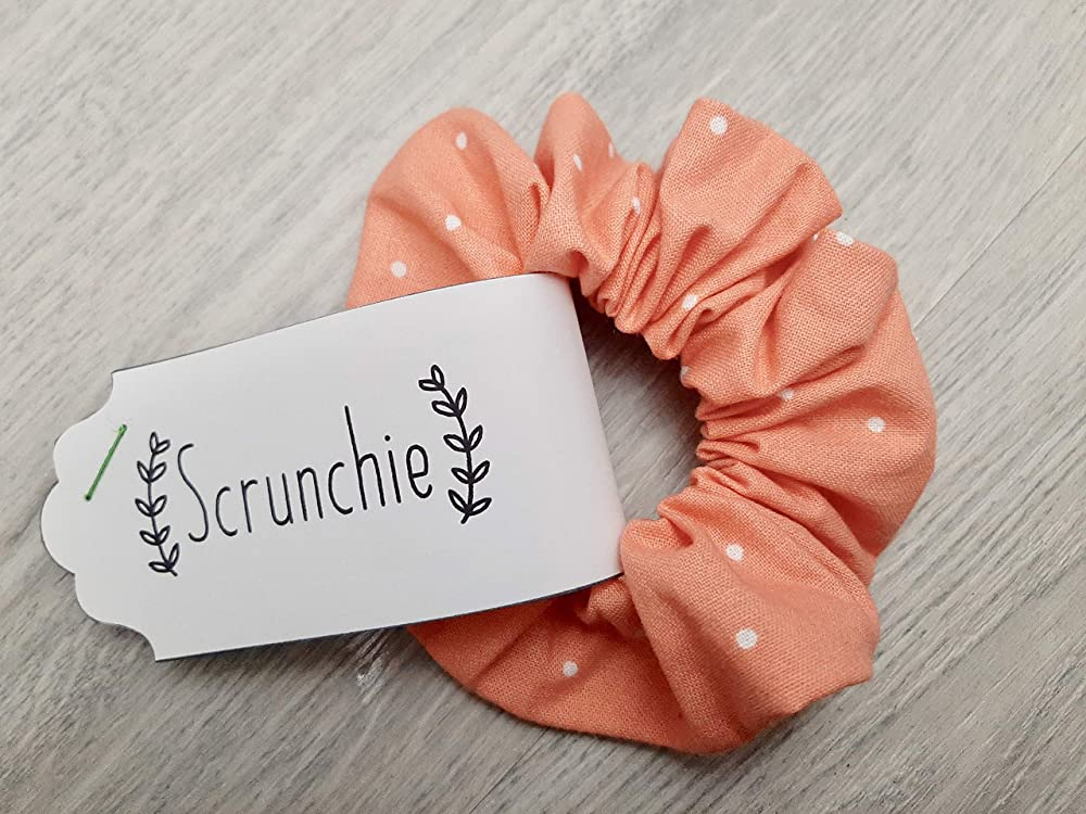 Scrunchie Pack Wrist Accessories Set of 3 Hair Scrunchie SCRUNCHIES Fabric GRAY-WHITE Flannel Ponytail Holder Handmade