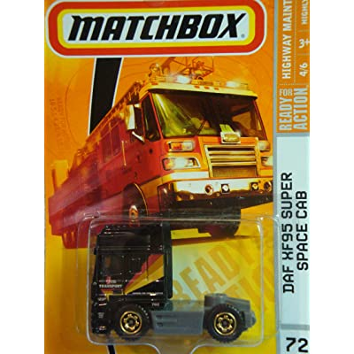 Matchbox Highway Maintenance Series #72 DAF XF95 Space Cab Semi-Tractor Truck Black Detailed Diecast Scale 1/64 Collector: Toys & Games