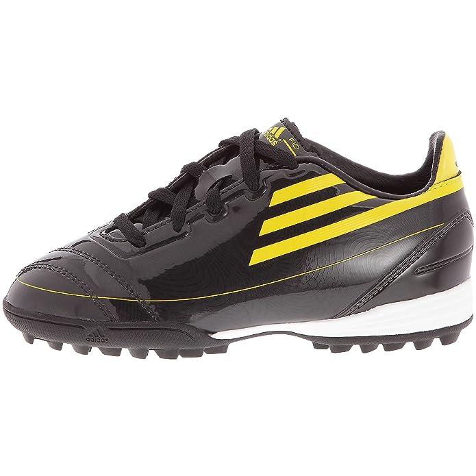 adidas Tf J-Chaussures calcio F10 Trx terreno synthetic, da bambino, Nero (Noir/Soleil/Soleil), 34