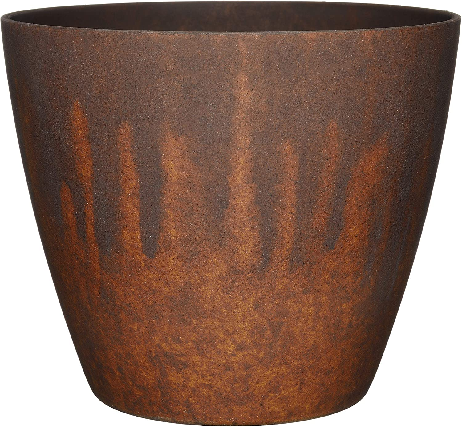 """Classic Home and Garden 807-404R Vogue Planter, 8"""", Burnished Rust"""