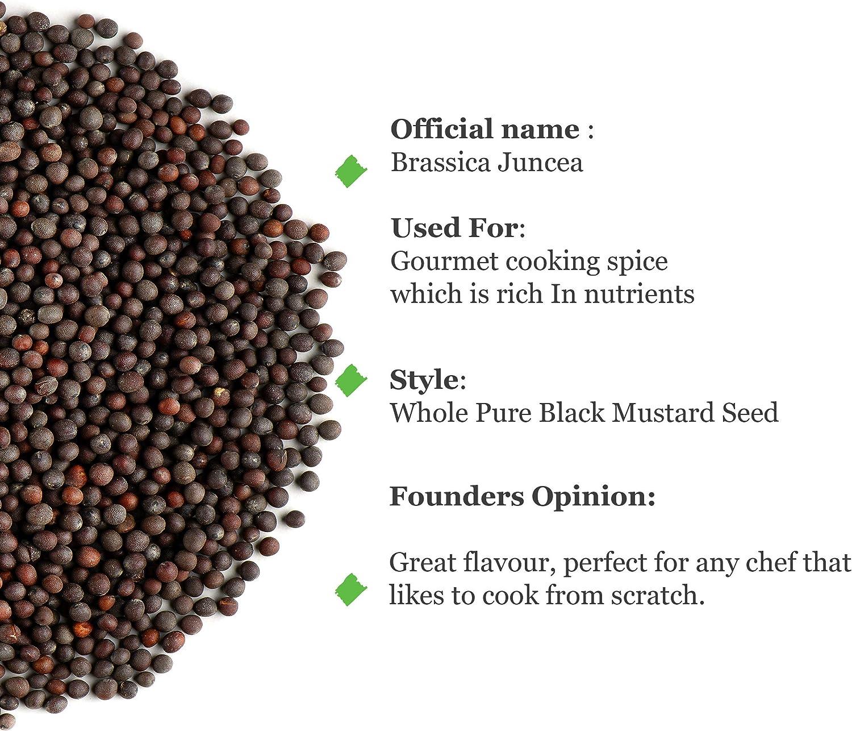 Semillas De Mostaza Negra Ecológica - Semillas De Mostaza Negra - 200g: Amazon.es: Alimentación y bebidas