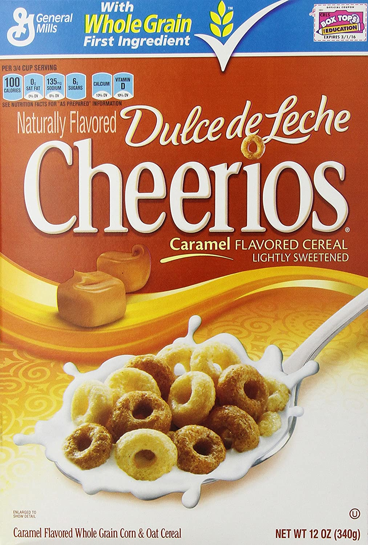 Amazon.com: General Mills Cheerios Dulce De Leche Caramel Flavored Cereal, 12 oz: