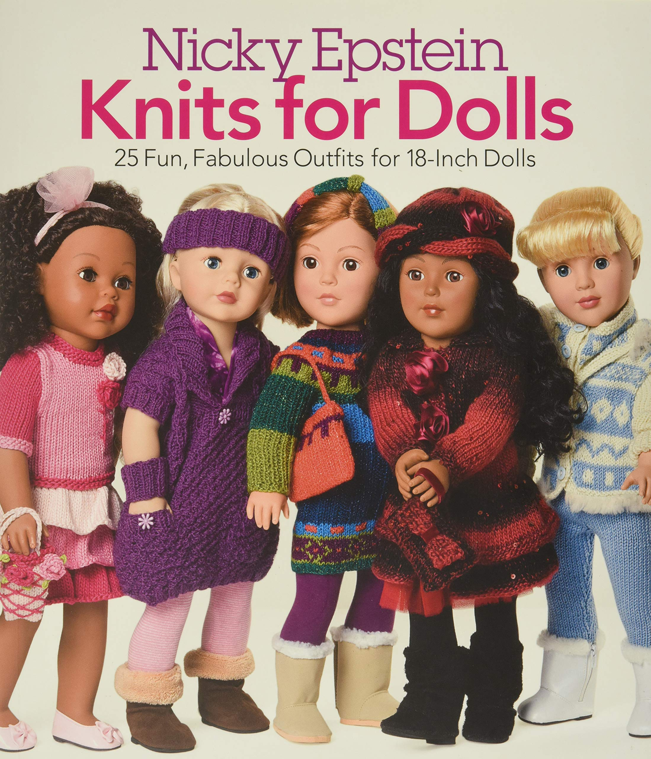 Just for Dolls Doll Clothes Knitting Pattern Book by Paton/'s Beehive Vintage