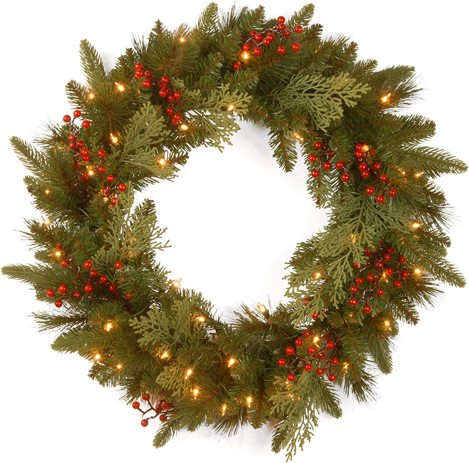 National Tree Classical Collection Christmas Wreath Amazon Co Uk Kitchen Home