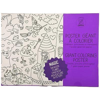 OMY Design & Play Poster géant à colorier - Thème magie