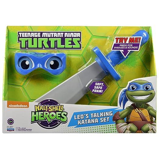 Teenage Mutant Ninja Turtles Pre-Cool Half Shell Heroes Leonardo Soft  Weapons and Bandana Electronic Role Play Set Action Figure