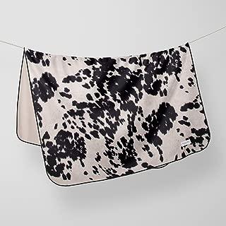 product image for Glenna Jean Crib Quilt Baby Blanket Super Soft & Warm Cow Animal Print for Boys & Girls, White/Black