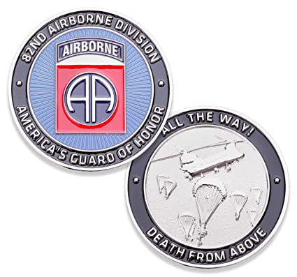 Amazon com: 82nd U S  Army Airborne Challenge Coin! Amazing