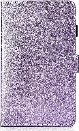 HereMore Cover Huawei Mediapad T3 7 WiFi, Custodia Brillantini Glitter Antiurto Protettiva Caso con Porta Penna e Tasca per Le Schede per Huawei ...