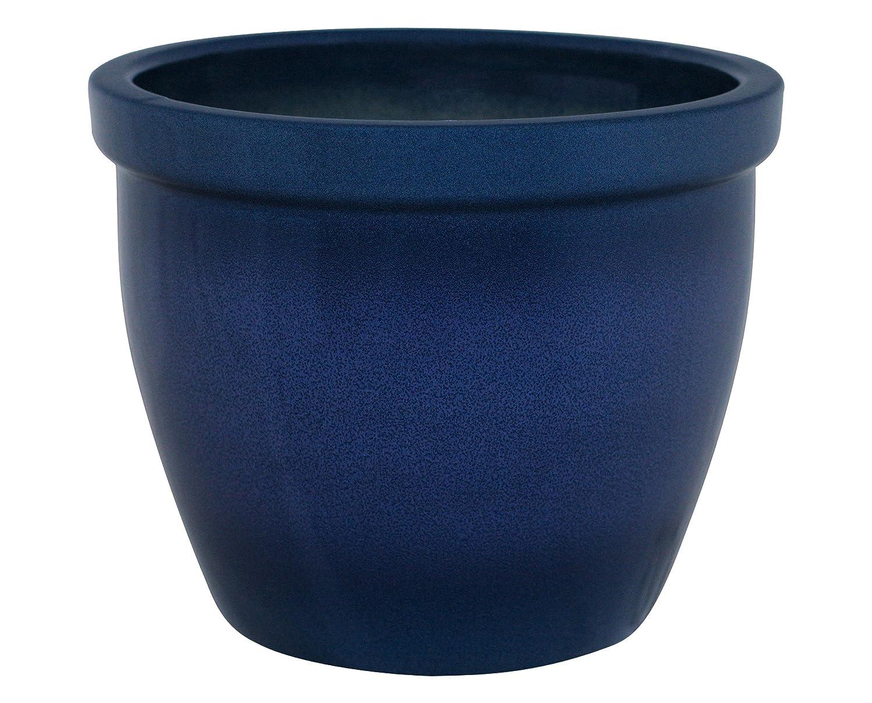 K /& K Venus II Pot de Fleurs avec Boule Poign/ée 19/x 15/cm Couleur Bleu Flamme//c/éramique