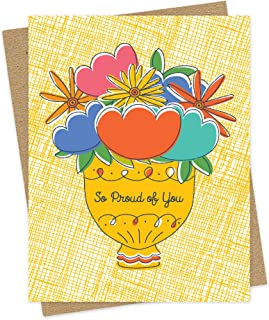 product image for Proud Floral Congratulations Card by Night Owl Paper Goods
