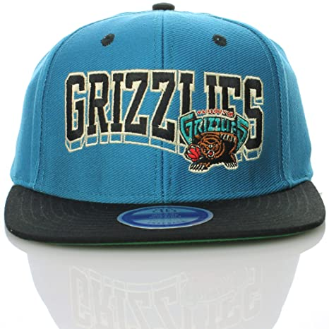 3cbc2848a6e Image Unavailable. Image not available for. Color  NBA Vancouver Grizzlies  Flat Visor Vintage Style Snapback Hat Cap