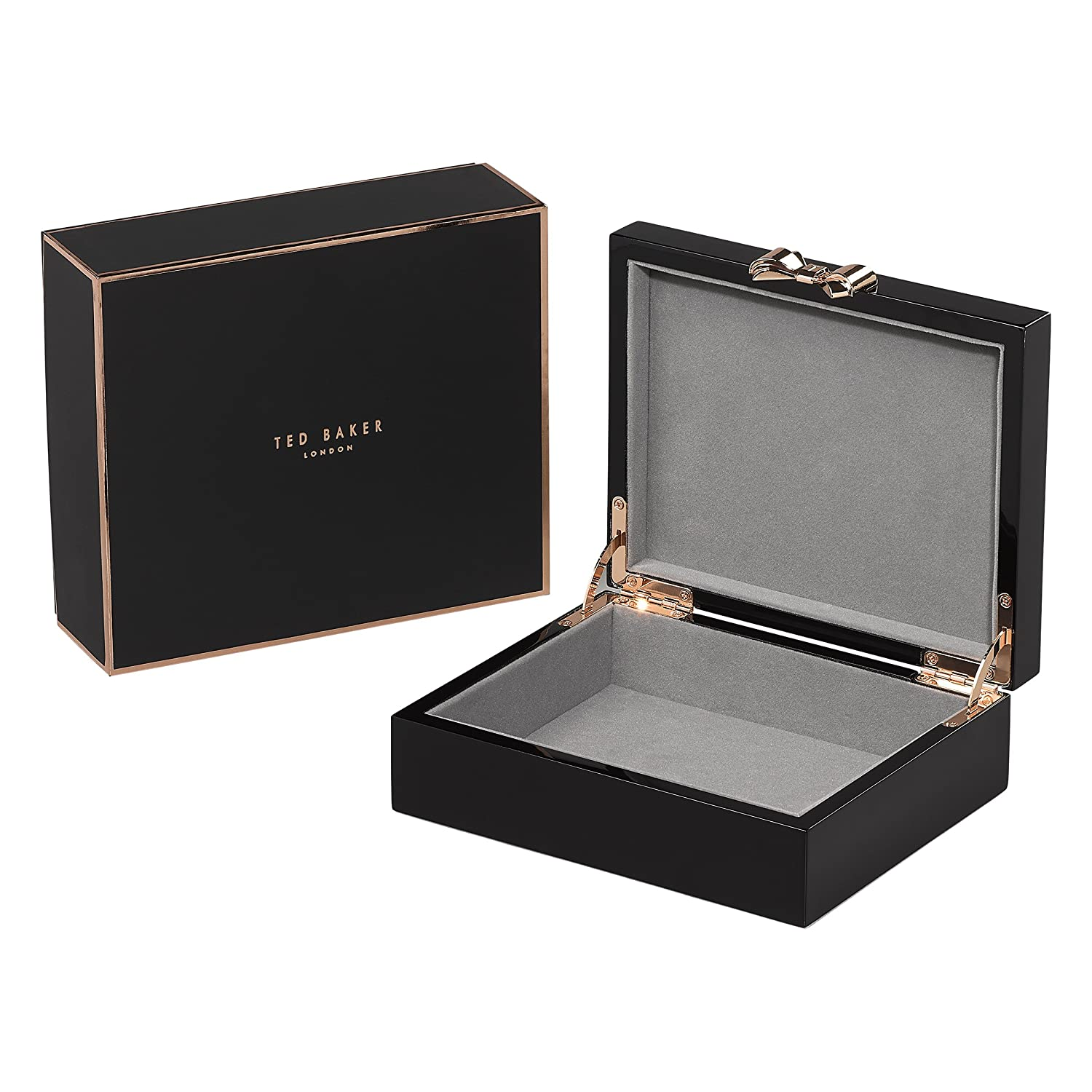 e9cdd9ed7 Amazon.com: Ted Baker Black Lacquered Jewelry Box- Medium - Wild and Wolf:  Beauty
