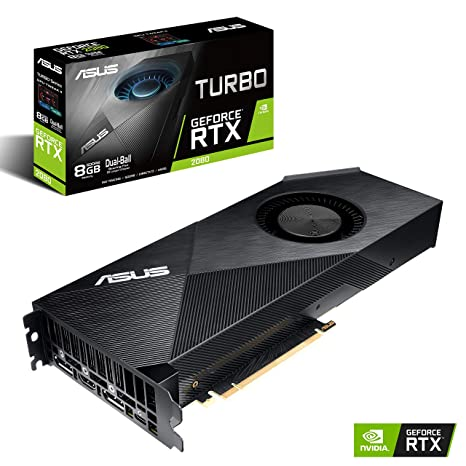 ASUS GeForce RTX 2080 8G Turbo Edition GDDR6 HDMI DP 1 4 USB Type-C  Graphics Card (TURBO-RTX2080-8G)