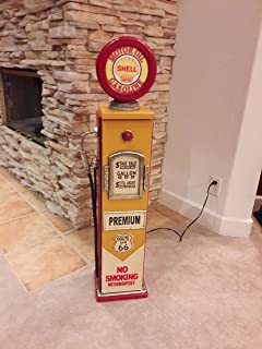 "Man Cave//Gameroom Decor. 42/"" Route 66 Red Gas Pump Cabinet with light"