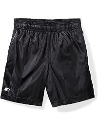 "Starter Big Boy's Boys' 7"" Soccer Short Shorts, black, S (6/7)"