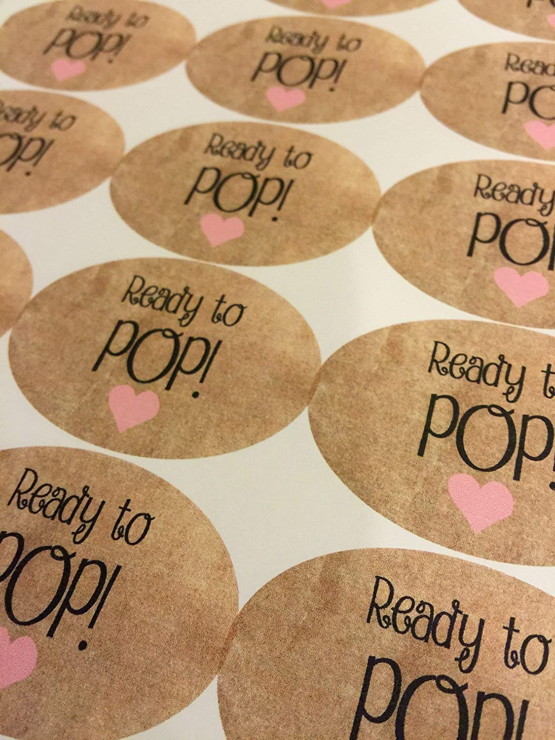 Amazon com ready to pop stickers custom stickers ready to pop labels ready to pop baby shower stickers custom sticker sticker label 15 stickers