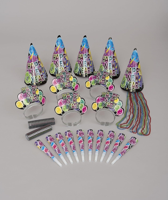 Nochevieja Kit de fiesta fiesta para 10: Amazon.es: Juguetes ...