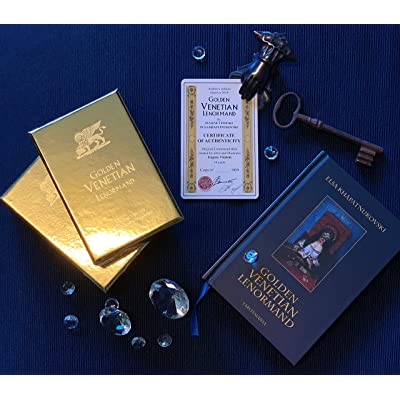 Golden Venetian Lenorman Oracle Divination Cards, Unique Illustrated Occult Deck for Cards Reading Inspired by History of Venetian Carnival: Toys & Games