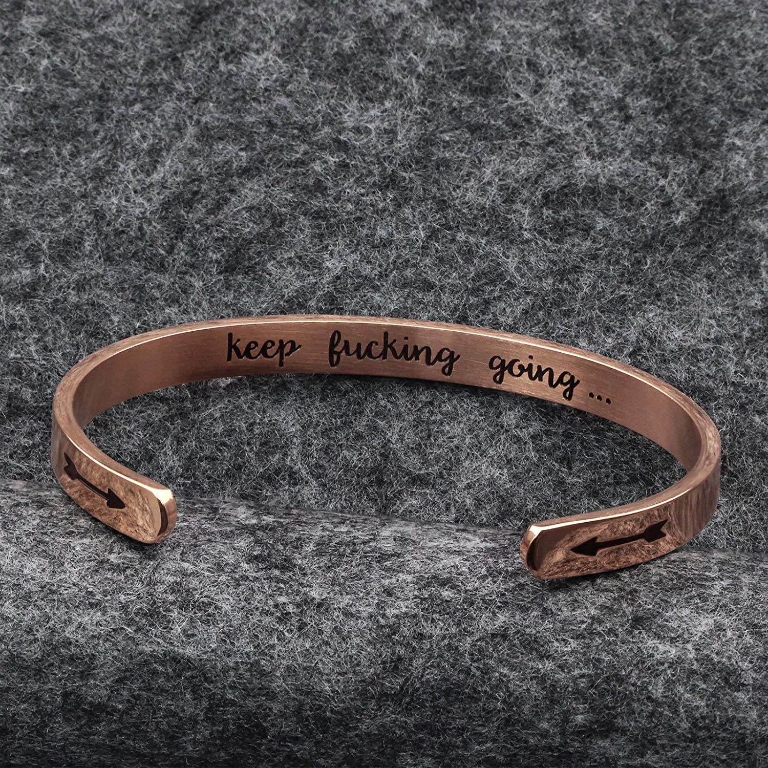 LIUANAN Keep Going Bangle Bracelet for Women