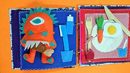 Juguete Educativo, Libro Sensorial , Libro Estilo Montessori ...
