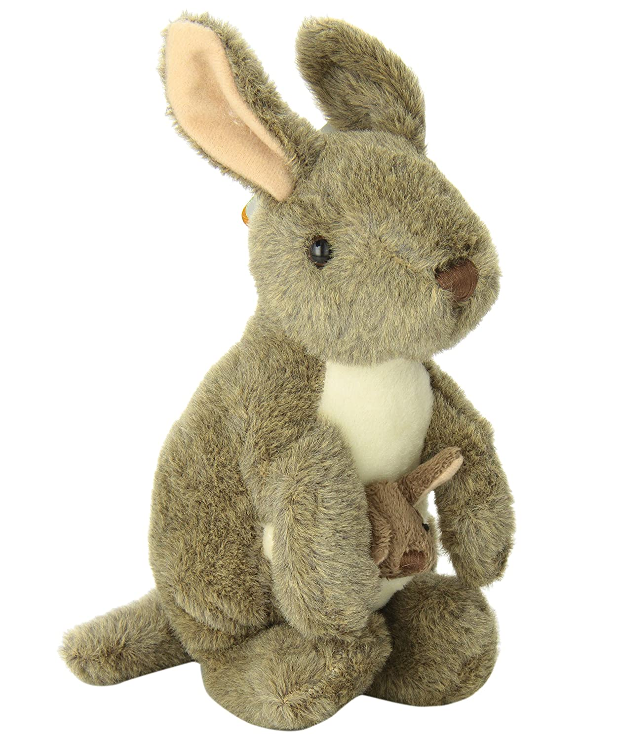 "Amazon.com: Wild Republic CK-Mini Kangaroo with Joey 8"" Animal Plush: Toys & Games"