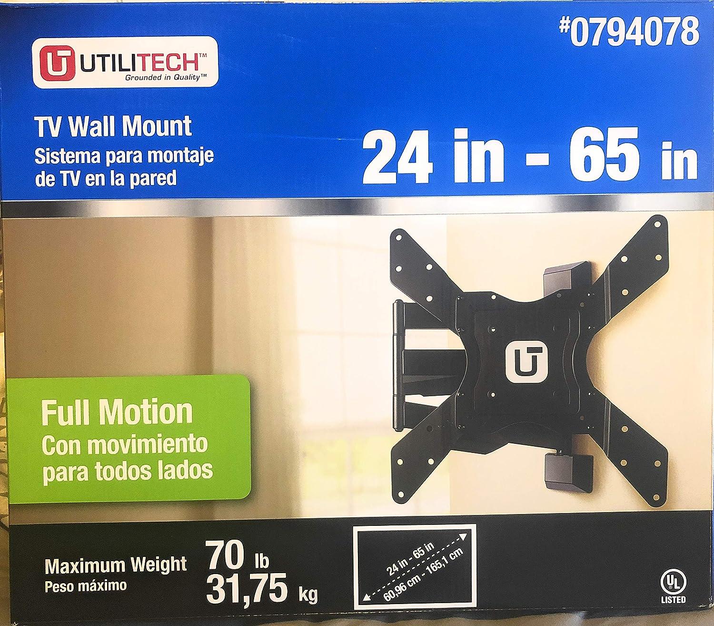 Utilitech フルモーションテレビ壁マウント 24~65インチ   B07KMGYHSM