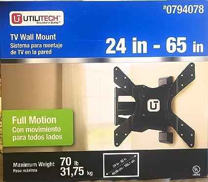 "e374283842f Amazon.com  Utilitech Full Motion TV Wall Mount 24""-65""  Home Audio ..."