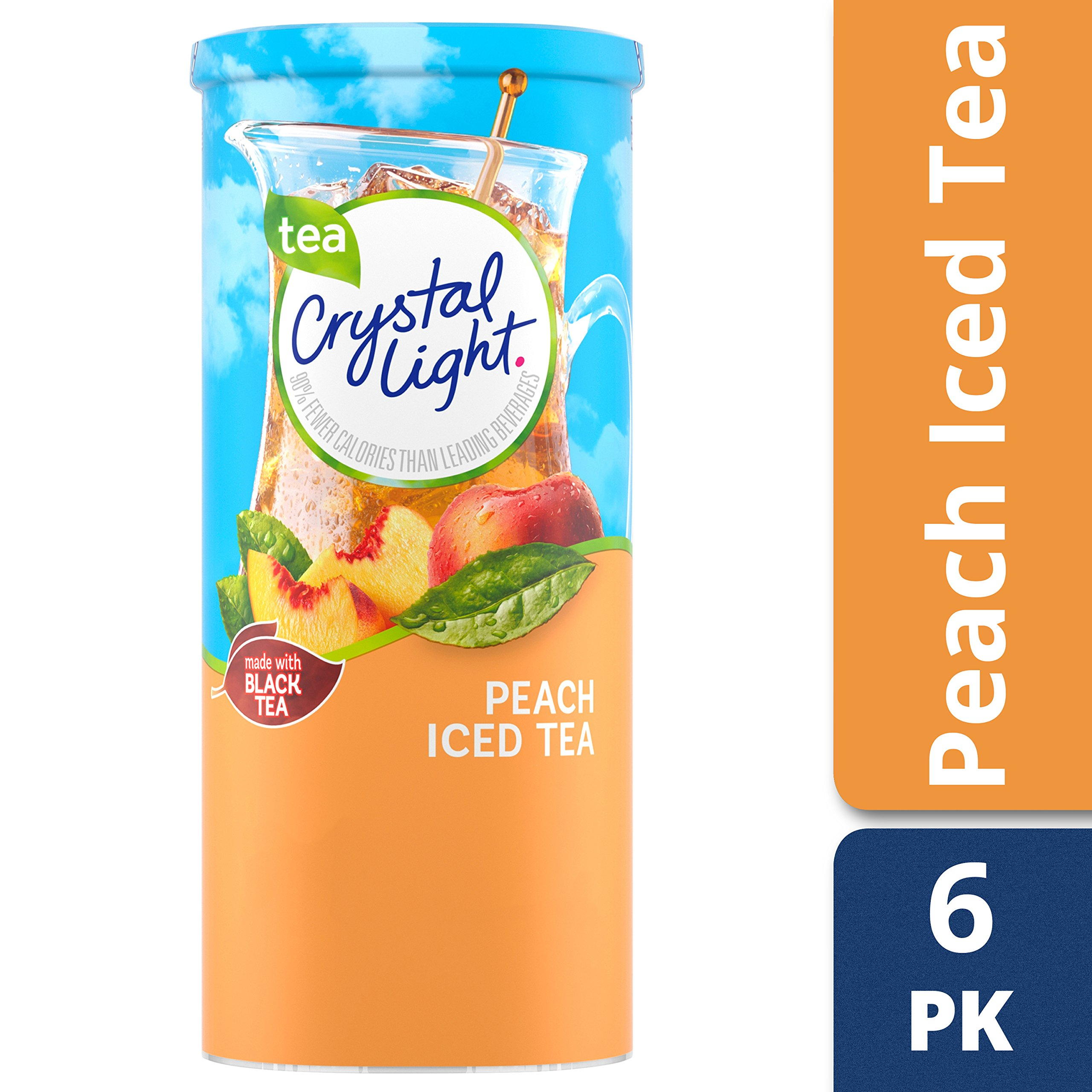 Crystal Light Peach Tea Drink Mix, 72 Pitcher Packets (12 Packs of 6) by Crystal Light (Image #4)