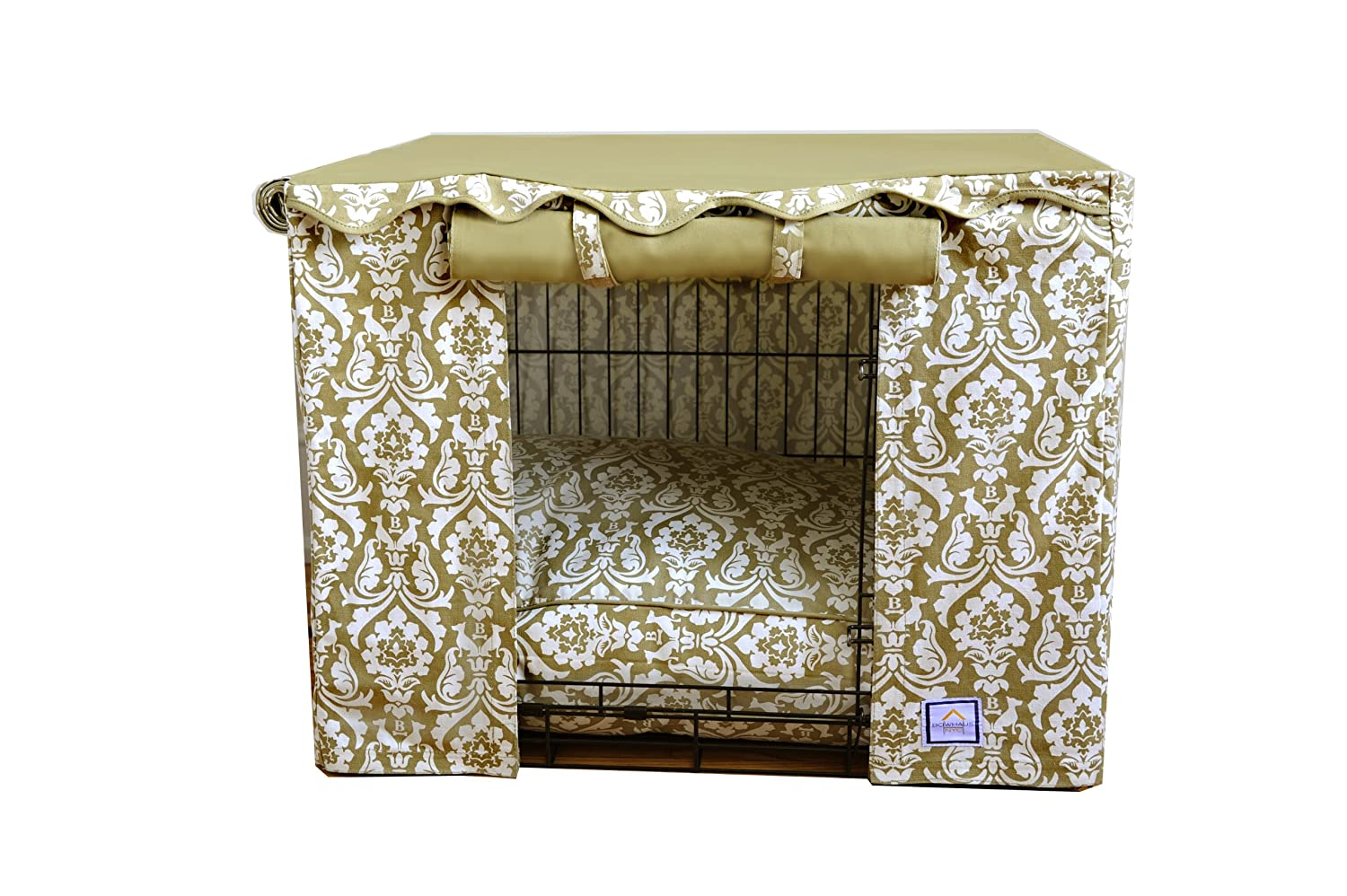 BowhausNYC Damask Crate Cover, Medium