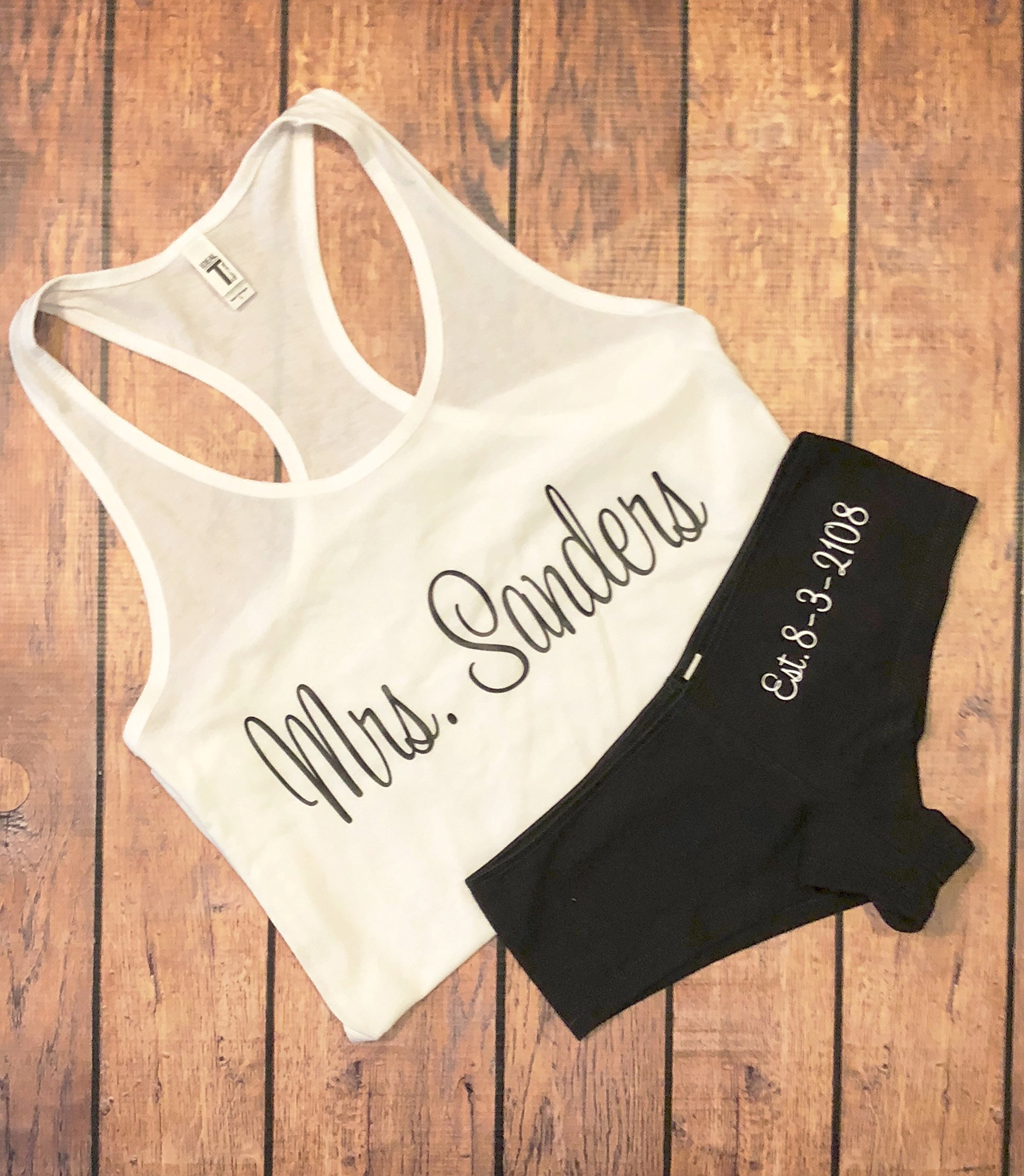 Personalized Tank and Wedding Day Undies Set