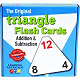 "Learning Advantage 4551 The Original Triangle Flash Cards, Addition and Subtraction, Grade: Kindergarten to 4, 6.5"" Height, 1.25"" Width, 6.25"" Length"