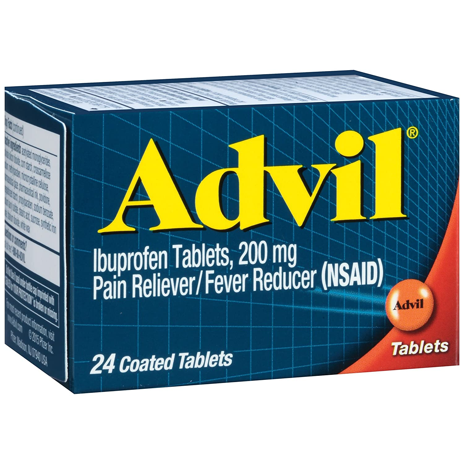 Advil (24 Count) Pain Reliever/Fever Reducer Coated Tablet, 200mg Ibuprofen, Temporary Pain Relief by Advil