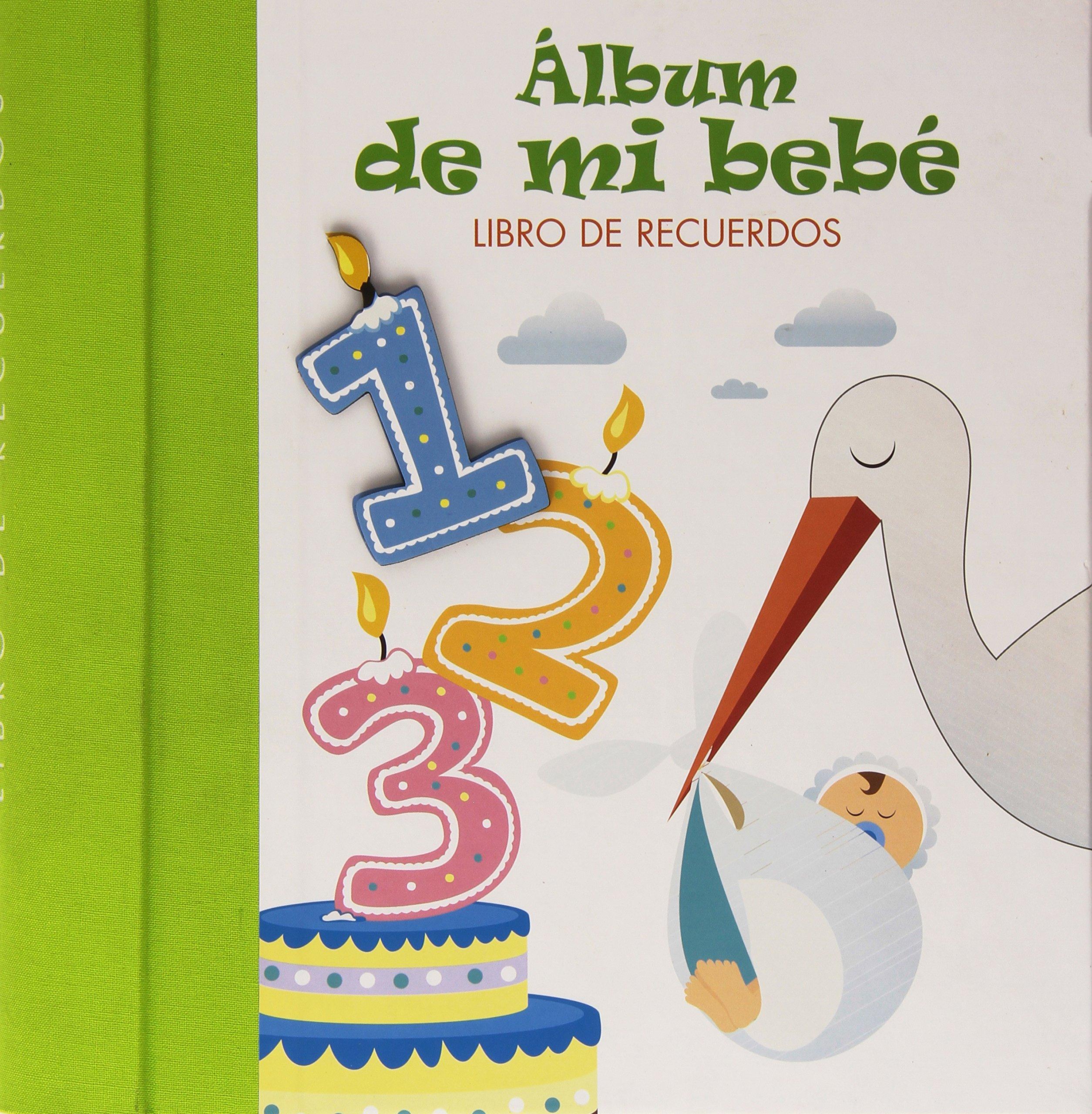 Álbum de mi bebé: Libro de recuerdos. VERDE Mi familia y yo ...