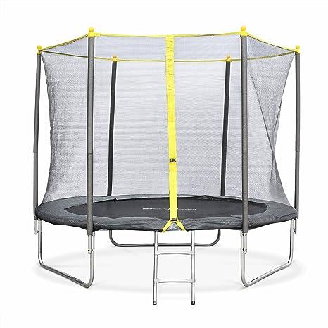 Alices Garden - Cama elástica, Trampolin de 245 cm (estructura reforzada). Incluye: escalera + funda protectora - SPRINGBOK: Amazon.es: Deportes y aire libre