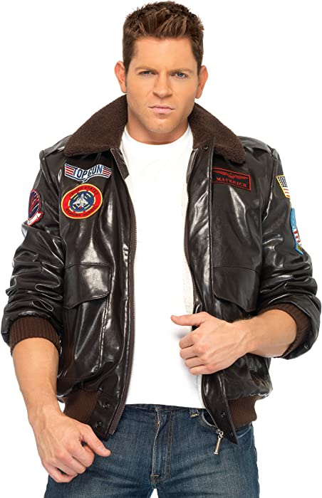 Amazon Com Leg Avenue Men S Top Gun Bomber Jacket Clothing