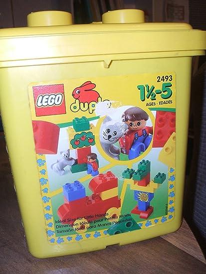 Amazoncom Lego Duplo 2493 Yellow Bucket Toys Games