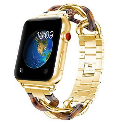 Amazon.com: gelishi Apple Watch banda mujeres, Moda Acero ...